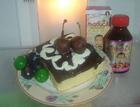 """Cake Sehat """"Maducil"""" bertoping coklat"""