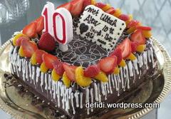cake coklat double buah