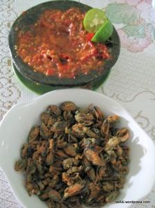 Kerang goreng tepung & sambal cobek