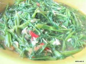 kangkung, cabe